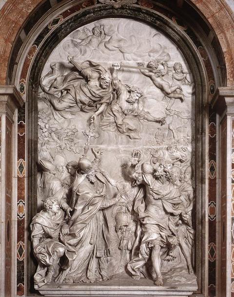 Attila ve Papa I.Leo'nun buluşması (Allessandro Algardi)