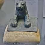 Louvre aslanı ve beraberindeki taş tablet- Hurri/Akad Dönemi: Musée du Louvre, Paris