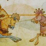 XIII. yüzyıldan bir kronikte  Selahaddin ve  Richard'ın temsili karşılaşması