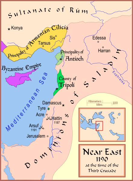 III. Haçlı Seferli esnasında Yakın Doğu.