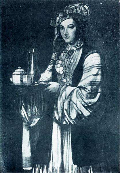 XVIII. yüzyılda bir Kazan Tatar kadını (Wikipedia)