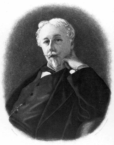 Öndegelen Aryan Irkı teorisyenlerinden Fransız diplomat, yazar Arthur de Gobineau (1816-1882)