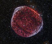SN 1006'dan geriye kalanlar. (Görsel: NASA/CXC/Middlebury College/F.Winkler/DSS)